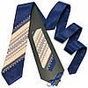 Двухцветный галстук с вышивкой