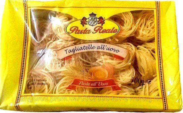 Макароны гнезда  Pasta Reale Tagliatelle all'uovo, 500 гр.
