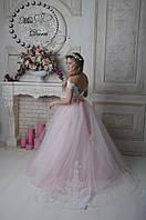 Платье свадебное пудровое с белым пышное, фото 1
