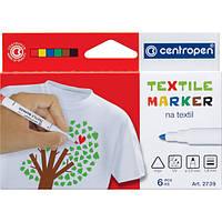 Набор маркеров для ткани Centropen Textile 6цв. (2739.6) , фото 1