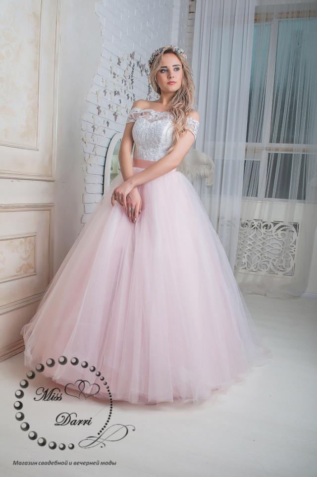 b0f9a7a303c0163 Платье свадебное пудровое с белым пышное, цена 7 100 грн., купить в ...