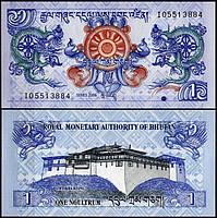 Бутан / Bhutan 1 Nhultrum 2006 Pick 27 UNC
