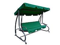 Садовые качели Relax 4-х местные с козырьком (Зеленые)