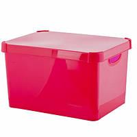 Ящик для игрушек на 23 литра Deco's Stockholm розовый