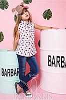 Летняя красивая рубашка для девочки L11
