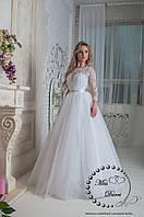 Платье свадебное белое с рукавом