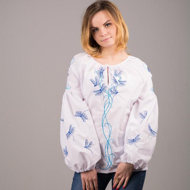 40021a4a295 Стильная белая женская блуза свышивкой   продажа