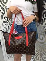 Сумка женская Louis Vuitton Луи Виттон копия фабричный Китай цвет красный