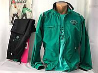 Спортивный костюм мужской Соккер из плащевки, зеленый/черный, размер 46.