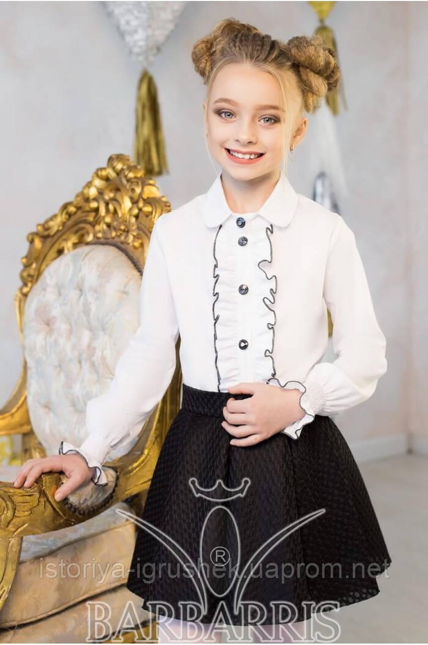 Школьная красивая блуза КS-10