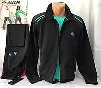 Мужской спортивный  трикотажный костюм  черный Соккер