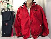 Спортивный костюм мужской плащевый,красный