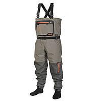 Полукомбинезон забродный дышащий Norfin FLOW 20000мм (носок неопрен) / XL