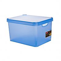Ящик для игрушек на 23 литра Deco's Stockholm синий