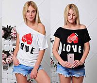Женская футболка хулиганка Love