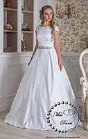 Платье свадебное из королевского атласа белое