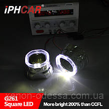 """Маска для ксеноновых линз G5 2.5"""" : Z261-2 / G261 Square CREE со светодиодными Ангельскими Глазками LED CREE, фото 2"""