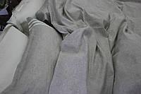 Льняной пододеяльник евро 200х220 на пуговицах серый лен 100%