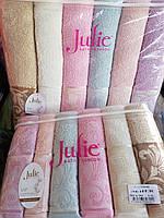 Лицевое махровое полотенце Seher Турция Джулия. 6 шт в уп. Размер 0,5х0,9 - 100% хлопок