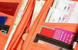 Многофункциональный органайзер Органайзер для путешествий AviaTravel+ 14х26 см (фиолетовый), фото 5