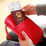 Многофункциональный органайзер Органайзер для путешествий AviaTravel+ 14х26 см (фиолетовый), фото 6