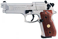 Пневматический пистолет Umarex Beretta M 92 FS Nickel/Wood (419.00.03), фото 1