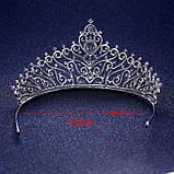 Корона, диадема, тиара в серебре, высота 7,5 см., фото 3
