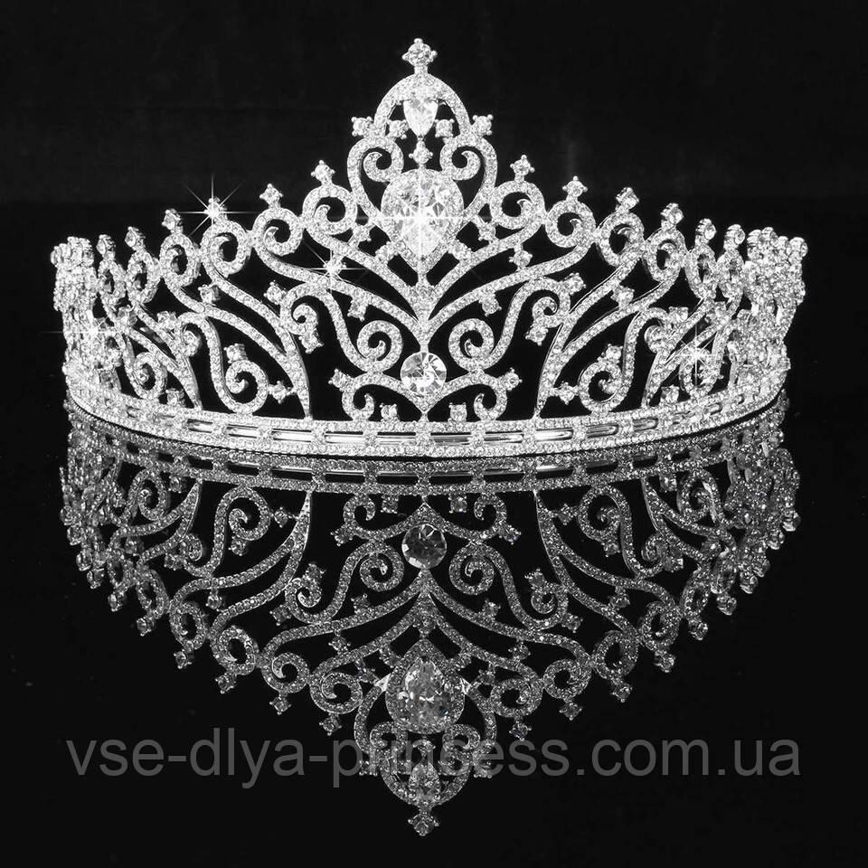 Корона, диадема, тиара в серебре, высота 7,5 см.