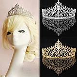 Корона, диадема, тиара в серебре, высота 7,5 см., фото 2