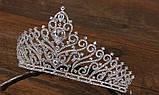 Корона, диадема, тиара в серебре, высота 7,5 см., фото 5