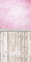 Двойной Фотофон Шебби розовый  размер 50*100 см