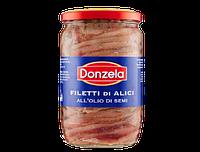 Филе анчоусов в масле Donzela Filetti di alici 720 г