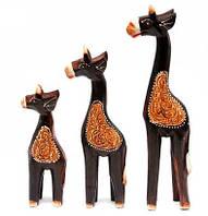 Жирафы 3 шт деревянные (24х5х3,5 см 19х4,5х3 см 15х4,5х3 см)