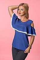 Оригинальная блуза с воланами из штапеля