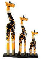 Жирафы 3 шт деревянные (40х11х5,5 см 29,5х8х5,5 см 19,5х8х6 см)