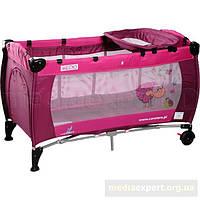 Туристическая кроватка caretero medio classic розовый/ая
