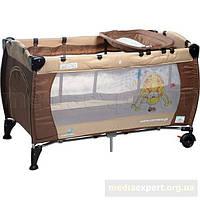 Туристическая кроватка caretero туристическая кроватка caretero medio classic коричнево-бежевый