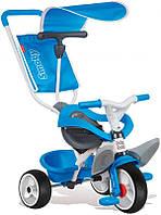Детский велосипед с козырьком и багажником (синий), Smoby Toys