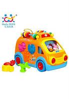 Детская игрушка huile toys Веселый автобус (988) для развития