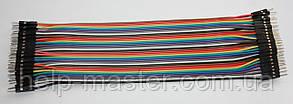 Плоский кабель 20 см. (штекер штекер) pin40  2.54
