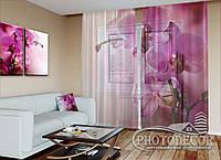 """ФотоТюль """"Пурпурная орхидея"""" (2,5м*3,0м, на длину карниза 2,0м)"""