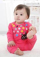 Малиновый детский костюм, кофта и штаны. Яркая одежда. Приятная на ощупь. Хорошее качество. Дешево Код: КГ1172