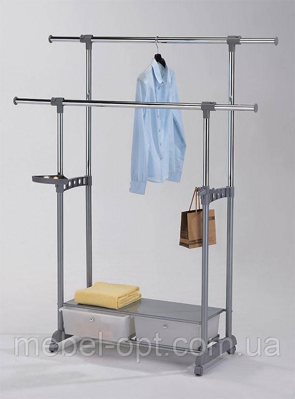 Стойка для одежды с ящиками W-88 (CH-4578) с ящиками для хранения