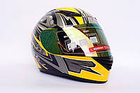 Шлем-интеграл BLD №-666 желтый/хамелеон