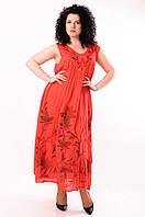 Платье - разлетайка красное, на 52-62 р-ры