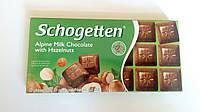 Шоколад Schogetten Alpine Milk with Hazelnuts (Альпийское Молоко с Лесным орехом) 100 гр