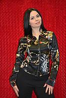 Рубашка на молнии с длинным рукавом
