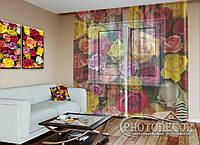 """ФотоТюль """"Разноцветные Розы"""" (2,5м*3,0м, на длину карниза 2,0м)"""