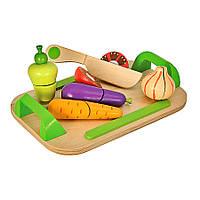 Игровой набор доска детская для нарезки с овощами Eichhorn 3720, фото 1