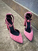 Шикарные туфли Olimpia нежно-розовый замш